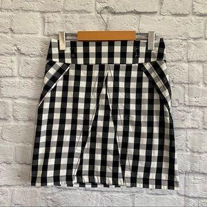 DYNAMITE Gingham Black White Skirt